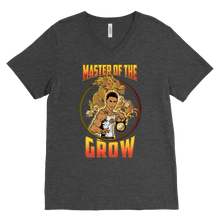 "teelaunch T-shirt Canvas Mens V-Neck / Charcoal Heather / S Brute Leroy - ""Master Of The Grow"" 