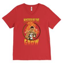"teelaunch T-shirt Canvas Mens V-Neck / Red / S Brute Leroy - ""Master Of The Grow"" 