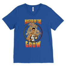 "teelaunch T-shirt Canvas Mens V-Neck / Royal Blue / S Brute Leroy - ""Master Of The Grow"" 