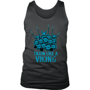 teelaunch T-shirt District Mens Tank / Charcoal / S Train Like A Viking | Standard Tank Top