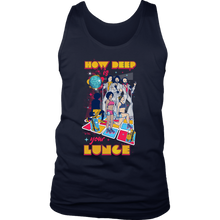 teelaunch T-shirt District Mens Tank / Navy / S How Deep Is Your Lunge - Mens Tank