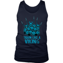 teelaunch T-shirt District Mens Tank / Navy / S Train Like A Viking | Standard Tank Top