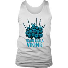 teelaunch T-shirt District Mens Tank / White / S Train Like A Viking | Standard Tank Top