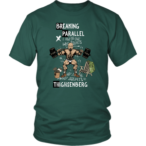 teelaunch T-shirt District Unisex Shirt / Dark Green / S Breaking Parallel - Thighsenberg | Cotton T-Shirt