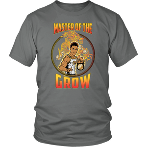 "teelaunch T-shirt District Unisex Shirt / Grey / S Brute Leroy - ""Master Of The Grow"" 