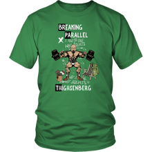 teelaunch T-shirt District Unisex Shirt / Kelly Green / S Breaking Parallel - Thighsenberg | Cotton T-Shirt