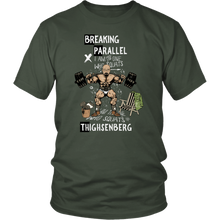 teelaunch T-shirt District Unisex Shirt / Olive / S Breaking Parallel - Thighsenberg | Cotton T-Shirt