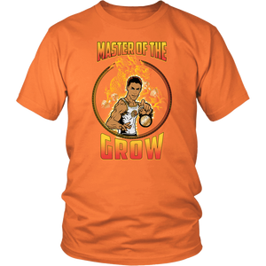 "teelaunch T-shirt District Unisex Shirt / Orange / S Brute Leroy - ""Master Of The Grow"" 