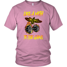 teelaunch T-shirt District Unisex Shirt / Pink / S Like A Moth To The Gains - Cotton T-Shirt