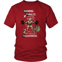 teelaunch T-shirt District Unisex Shirt / Red / S Breaking Parallel - Thighsenberg | Cotton T-Shirt