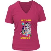 teelaunch T-shirt District Womens V-Neck / Dark Fuchsia / S How Deep Is Your Lunge | Womens V-Neck