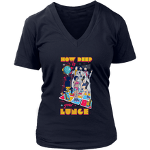 teelaunch T-shirt District Womens V-Neck / Navy / S How Deep Is Your Lunge | Womens V-Neck