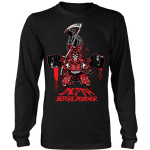 teelaunch T-shirt Long Sleeve Shirt / Black / S Depth Before Dishonor | Long Sleeve (Oversized Print) Shirt