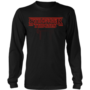 teelaunch T-shirt Long Sleeve Shirt / Black / S Stronger Thighs | Long Sleeve Shirt (Oversized Print)