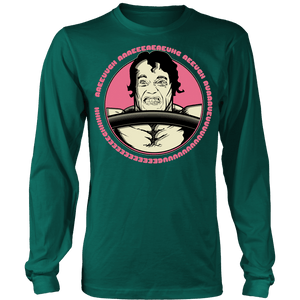 teelaunch T-shirt Long Sleeve Shirt / Dark Green / S Arnold Scream | Long Sleeve (Oversized Print) Shirt