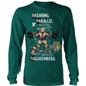 Breaking Parallel - Thighsenberg | Long Sleeve Shirt (Oversized Print)