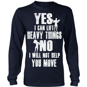 teelaunch T-shirt Long Sleeve Shirt / Navy / S Yes I Can - No I Will Not | Long Sleeve Shirt (Oversized Print)