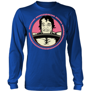 teelaunch T-shirt Long Sleeve Shirt / Royal Blue / S Arnold Scream | Long Sleeve (Oversized Print) Shirt