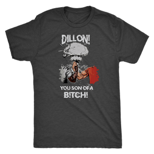 Predator Handshake Shirt | Dillon You Son Of A Shirt  Next Level Mens Triblend / Vintage Black / S Epic Handshake | Premium Triblend Shirt