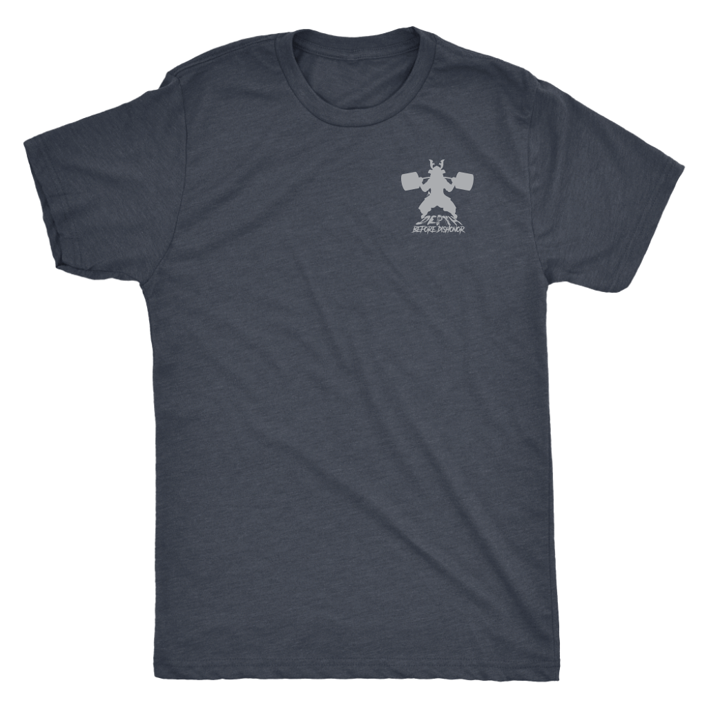 teelaunch T-shirt Next Level Mens Triblend / Vintage Navy / S Depth Before Dishonor (Double Sided) | Premium Triblend Shirt