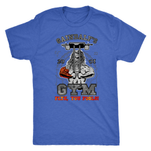 "teelaunch T-shirt Next Level Mens Triblend / Vintage Royal / S Gaindalf's Gym (Arms Closed) - ""Flye, You Fools!"" 