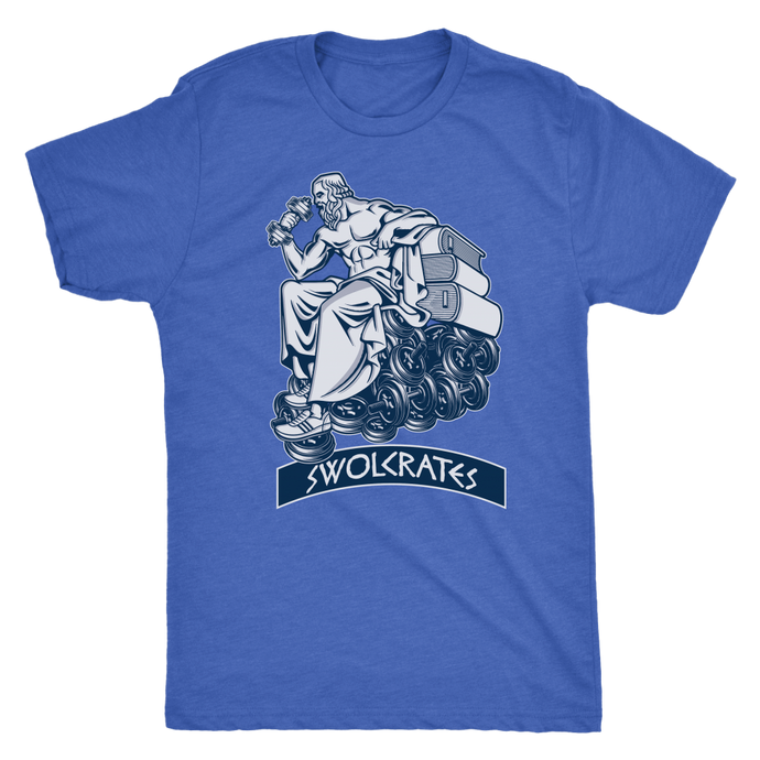 teelaunch T-shirt Next Level Mens Triblend / Vintage Royal / S Swolcrates | Premium Triblend Shirt