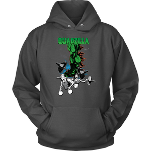 teelaunch T-shirt Unisex Hoodie / Charcoal / S Quadzilla | Pullover Hoodie