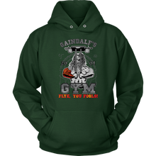 "teelaunch T-shirt Unisex Hoodie / Dark Green / S Gaindalf's Gym (Arms Closed) - ""Flye, You Fools!"" 