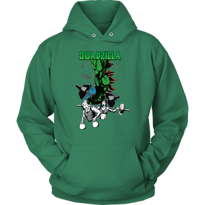 teelaunch T-shirt Unisex Hoodie / Kelly Green / S Quadzilla | Pullover Hoodie