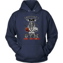 "teelaunch T-shirt Unisex Hoodie / Navy / S Gaindalf's Gym (Arms Closed) - ""Flye, You Fools!"" 