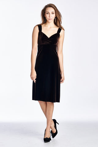 Women's Velvet Strap Evening Dress