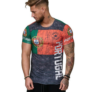 2018 Summer Portugal 3D T shirts For Men