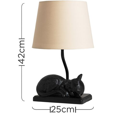 Sleeping Kitten Table Lamp