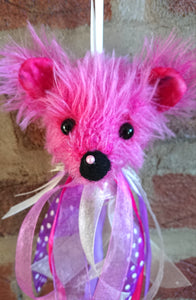 Mohair Bear Decoration with Jingling Bell