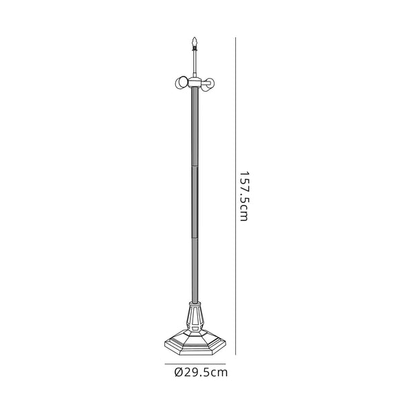 Bronze Floor Lamp - Base Only