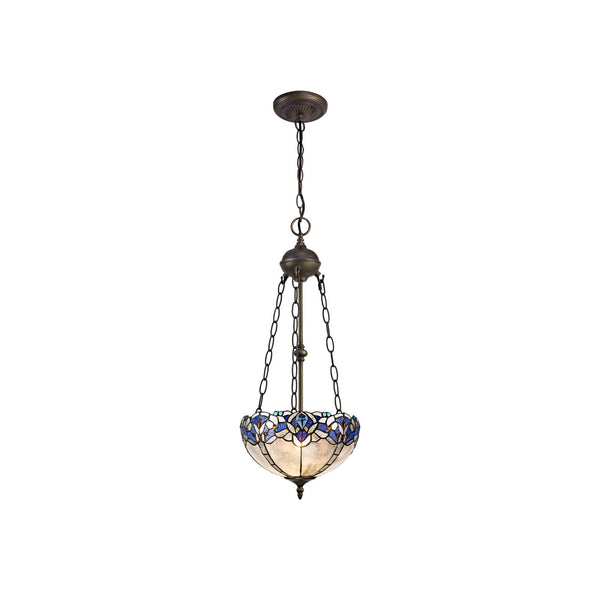 Rapture Tiffany Uplighter Chandelier Style Pendant