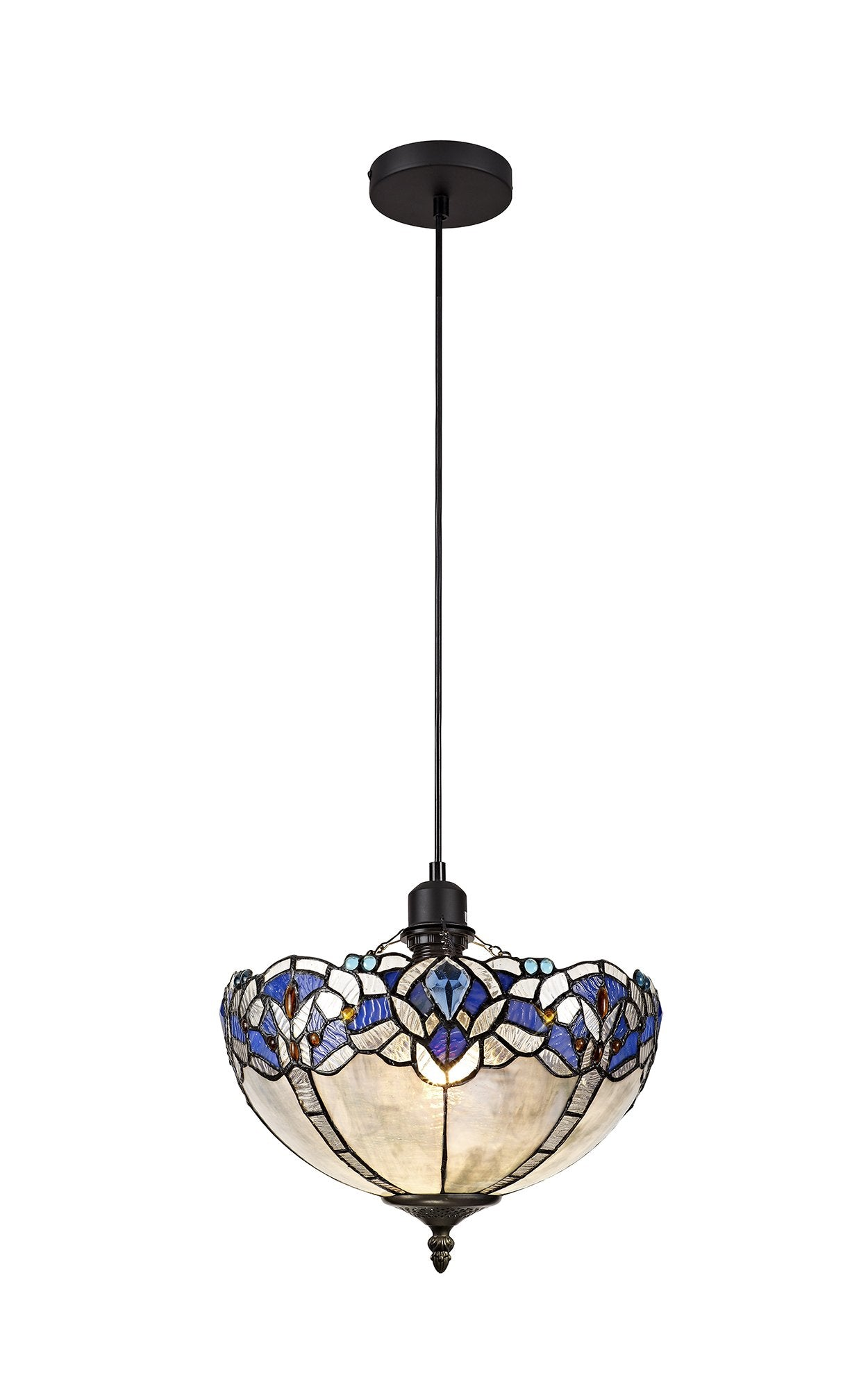 Rapture Tiffany Single Pendant - Uplighter