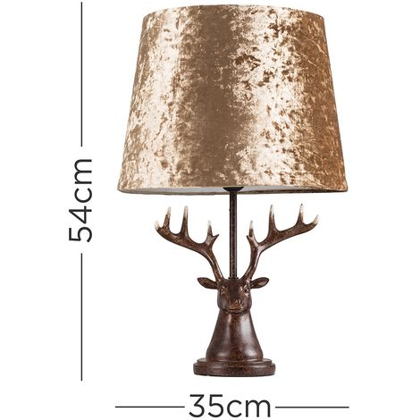 Caribou Head Table Lamp