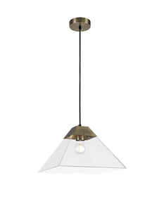 Pharaoh Pendant Large, 1 Light E27, Antique Brass