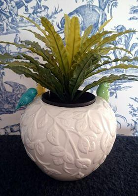 Ceramic Songbird Plant Pot / Vase