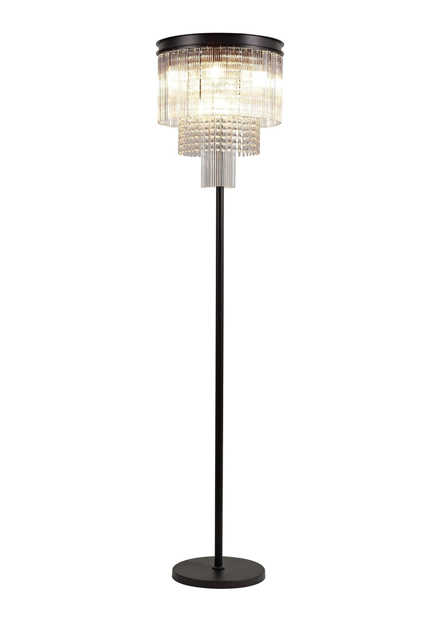 Shard Floor Lamp, 9 Light E14, Brown Oxide