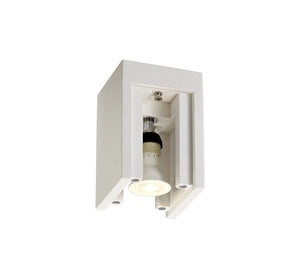 Lock Ceiling, 1 x GU10 (Max 25W), White Canvastable Gypsum