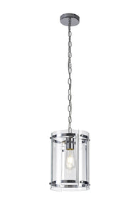 Florence Pendant, 1 Light E27, Polished Chrome