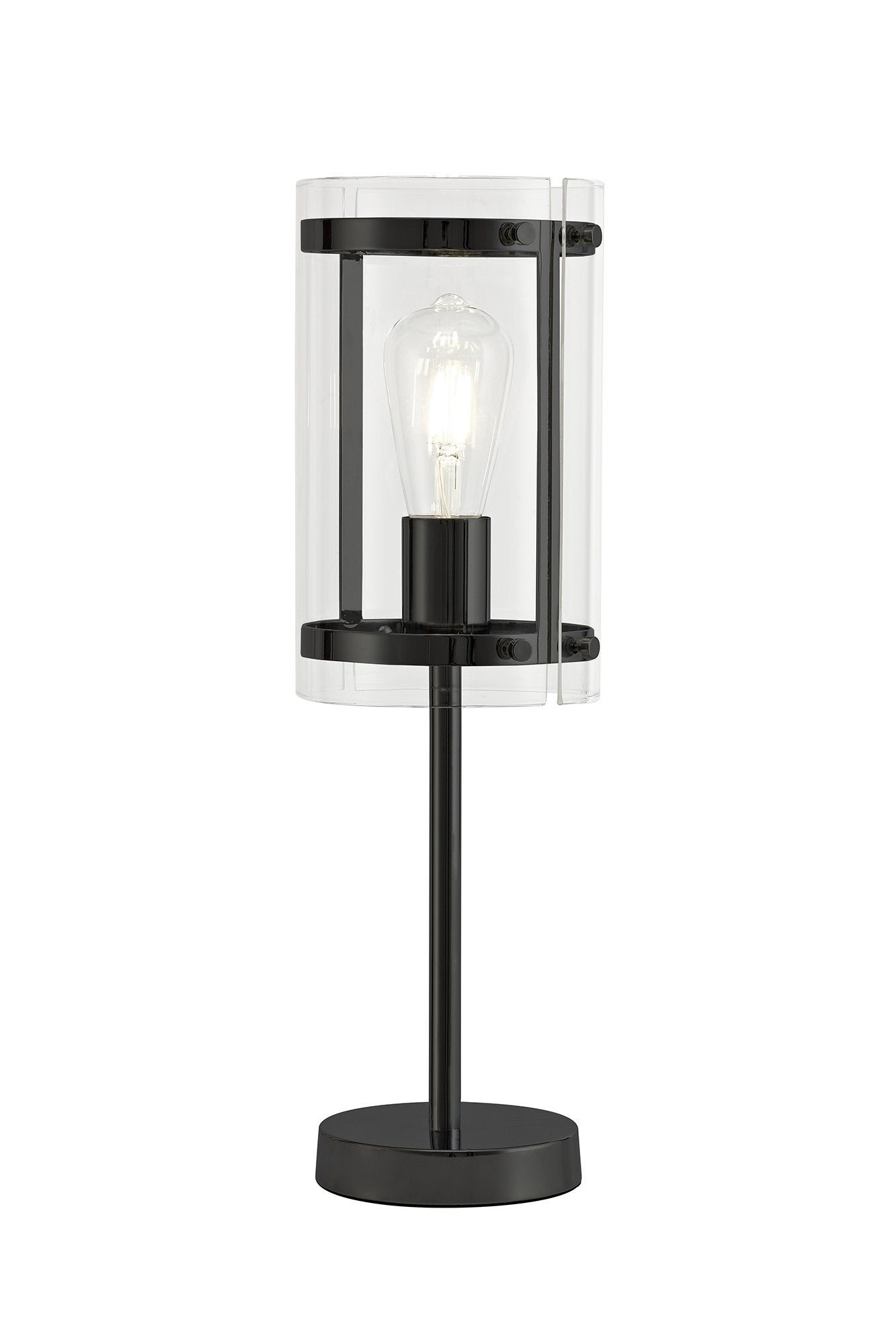 Florence Table Lamp, 1 Light E27, Matt Blac