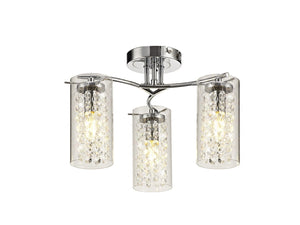 Shower Semi Flush Ceiling Light