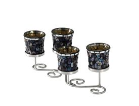 Forget-Me-Not Mosaic 5 Candle Holder