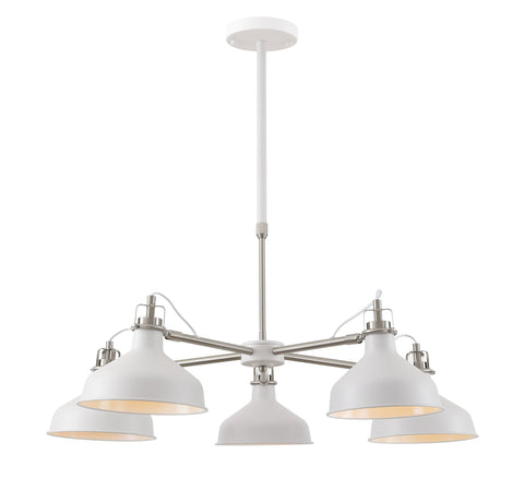 Banker Telescopic 5 Light Pendant