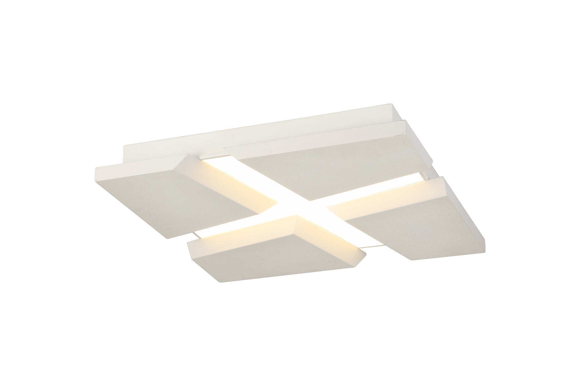 fracture Flush Ceiling, 1 x 50W LED, 3000K, 3500lm, Sand White, 3yrs Warranty