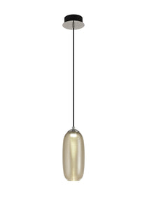 MamDawn Pendant, 1 x 8W LED, 4000K, 720lm, Champagne/Black, 3yrs Warranty