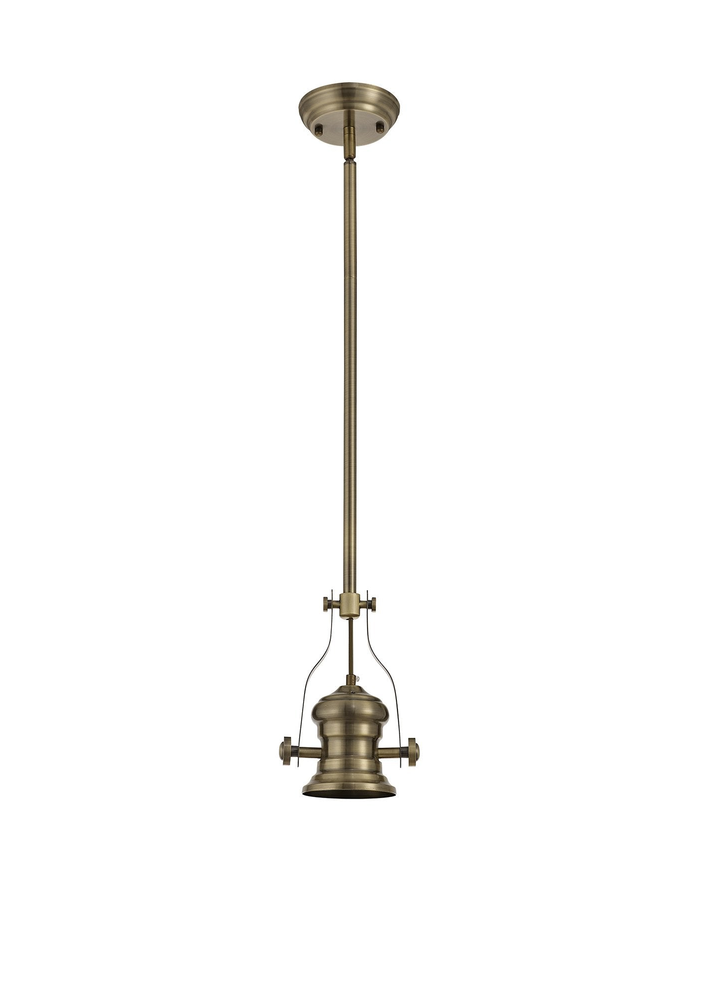 Hanger Frame Only Pendant, 1 x E27, Antique Brass